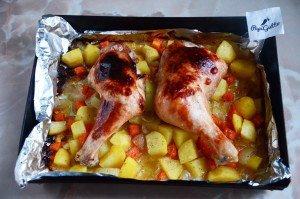 Куриные окорочка в духовке 7
