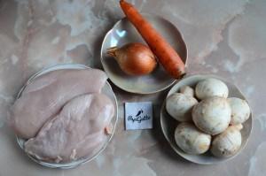 Рулетики из куриного филе с грибами 1