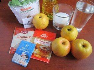Постный пирог с яблоками 1