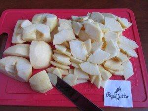Постный пирог с яблоками 6