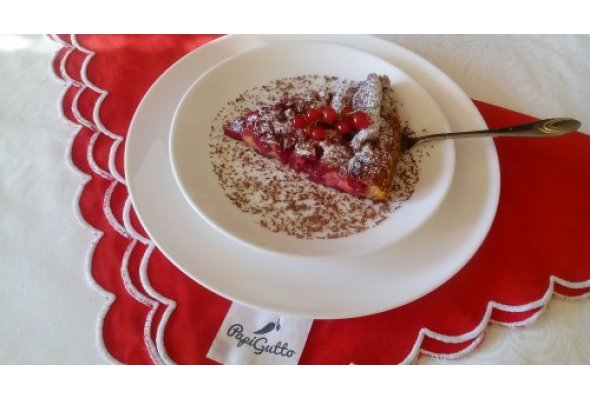 Клафуті (пиріг) з вишнею