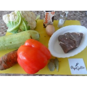 Мясное суфле с овощами
