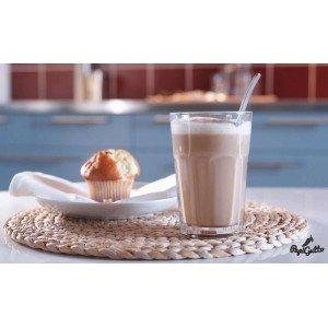 Кофе латте – полет фантазии над бокалом с эспрессо