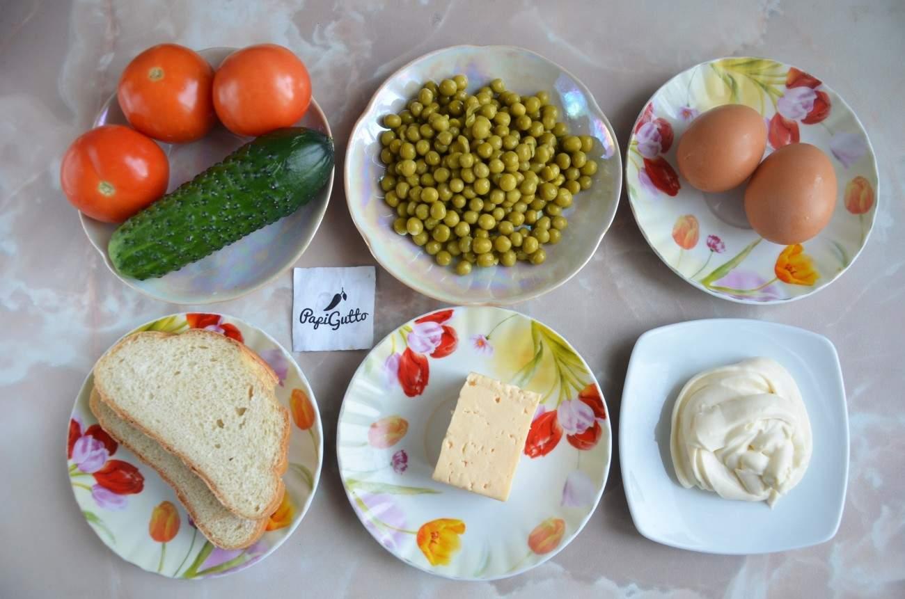 Салат с сухариками 1