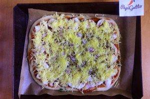 Пицца с шампиньонами 12