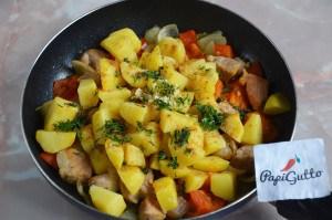 Оджахури (Жареная картошка с мясом) 6
