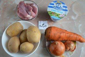 Тушеная картошка с мясом 1