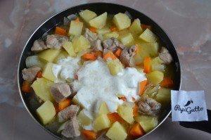 Тушеная картошка с мясом 9