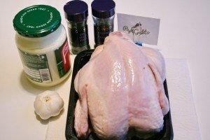 Запеченная курица целиком в духовке 1