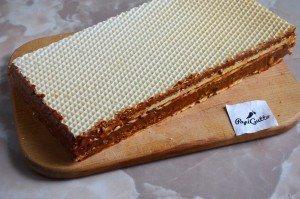 Вафельный торт со сгущенкой 6