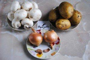 Смажена картопля з грибами 1