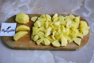 Смажена картопля з грибами 6