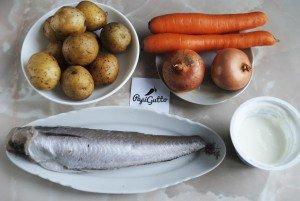 Рыба запеченная с овощами 1